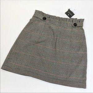 NWT Topshop Plaid Mini Skirt